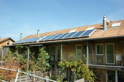 Solaranlage für Vorwärmung für Mehrfamilienhäuser