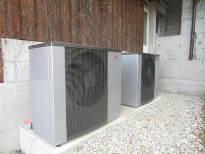 LW Wärmepumpe NIBE F2120 Kaskade für grosse Leistung in Mehrfamilienhäusern