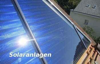 thermische Solaranlage für Warmwasser und Heizung