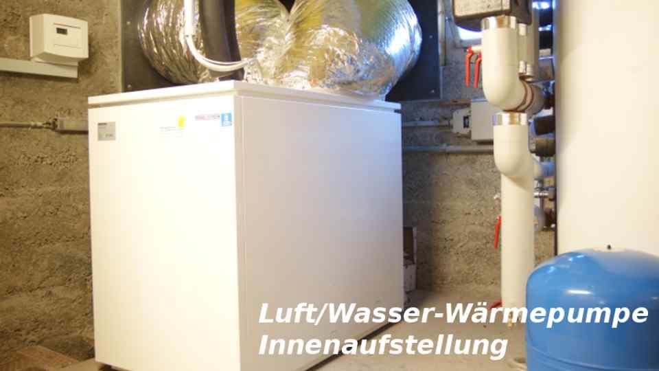 Luft-Waermepumpe Innenaufstellung